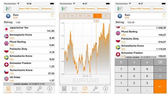 My Währung PRO auf dem iPhone