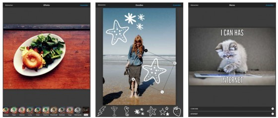 Photo Editor von Aviary Screenshots