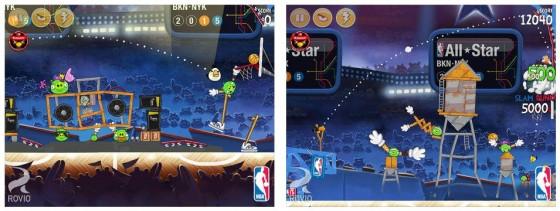 Im Bild siehst Du Screenshots der im letzten Update hinzugefügten NBA All Star Level.
