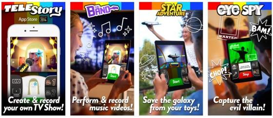 Kids können mit TeleStory ihre eigenen Musikvideoclips erstellen und diese mit Freunden und Familie teilen.