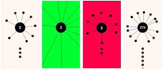 Durch simples Antippen schießt man im Spiel aa die Kugeln hoch - man muss dabei nur aufpassen, dass diese keine bereits mitdrehenden Kugeln berühren.