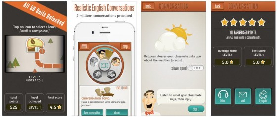 Supiki fördert das Sprechen der englischen Sprache und bietet darüber hinaus auch Vokabeln, Texte und Beispiel-Gespräche anderer Nutzer.