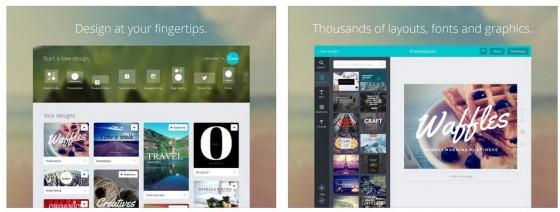 Mit Canva auf dem iPad kann man im Handumdrehen gute Designs für jeden Einsatzzweck erstellen. Die Ap bietet viele kostenlose Vorlagen und Zugriff auf Stockphotos.