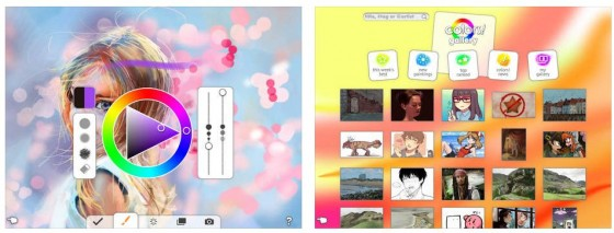 Mit Colors! malst Du nicht nur selbst auf iPhone und iPad, Du kannst auch anderen Nutzern der App über die Schulter gucken und so Anregungen für die eigene Nutzung der App bekommen.