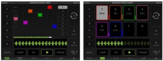 Die acht Tracks Deines Groves kannst Du ganz einfach durch die Platzierungen auf der Matrix verändern. Doch GrooveMaker bietet noch viel mehr Einstellmöglichkeiten zum Entdecken.