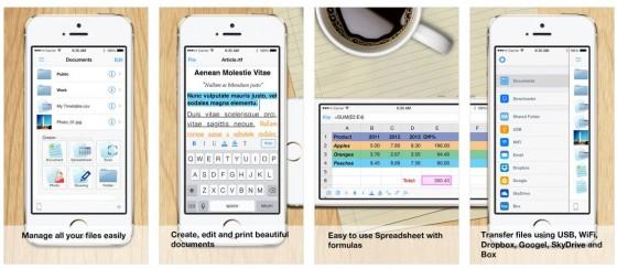 Wenn man nicht allzuviel mit Textdateien oder Tabellenkalkulation macht, leistet die App Dokumente gute Basis-Dienste.