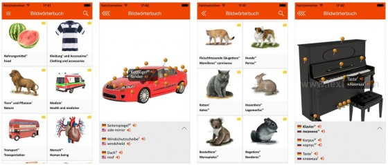 12.500 Begriffe aus 14 Themengebieten in sechs Sprachen bietet die neue kostenlos angebotene App LEXI24.