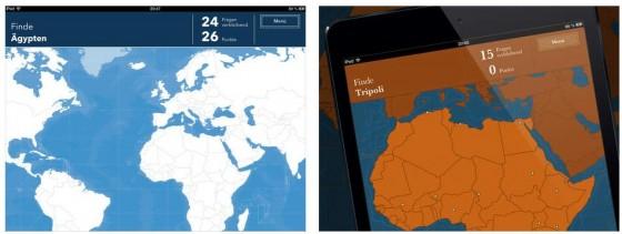 Durch die drei Schwierigkeitsstufen bietet die App Unsere Welt für jeden das passene Quiz.