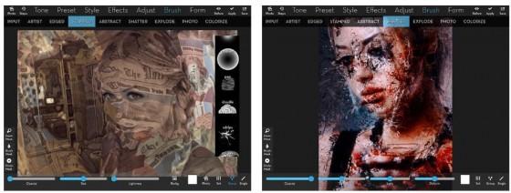Mit iColorama kann man beeindruckende Kunstwerke erschaffen. Die Stärke der App liegt in den Composings, wo man Bilder mit Hintergründen oder anderen Motiven kombiniert. Heute ist die iPad-Version kostenlos.