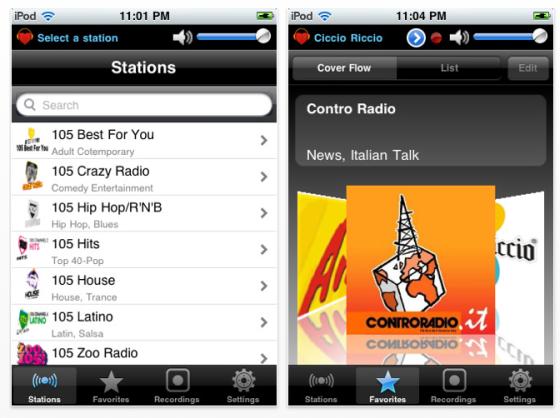 Home Radio Italy Radio-App für iPhone und iPod Touch