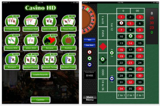 Casino HD für das iPad Screenshots