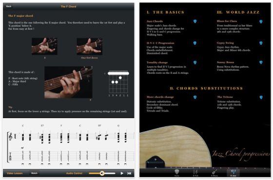 E-Guitar HD Screenshot Gitarrenlern-App für das iPad