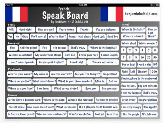 French Speak Board Screenshot