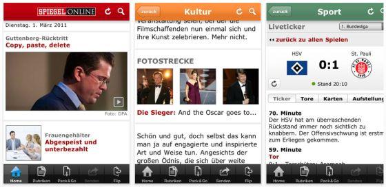 Spiegel Online iPhone App Screenshots