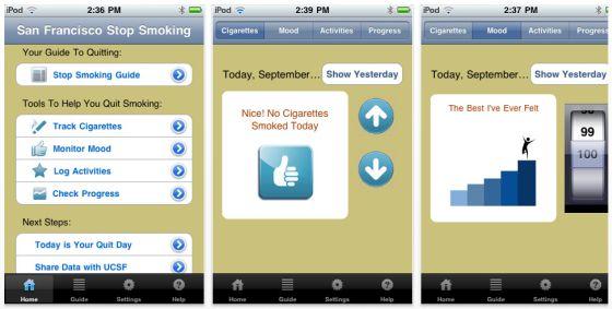 UCSF/SFGH Stop Smoking Screenshots