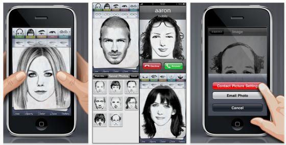 Mit facepuzzles kann man sich auf dem iPhopne, iPod Touch und iPad aus unzähligen Gesichtsdetails Gesichter zusammenstellen und diese zum Beispiel als Kontaktbilder nutzen.