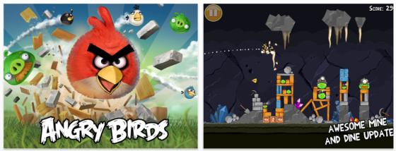 Angry Birds HD für das iPad Screenshots
