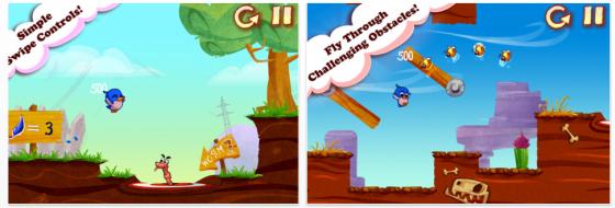 Early Bird iPhone-Spiele App Screenshots