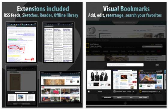 iPad und iPhone Browser Knowtilus - Screenshot
