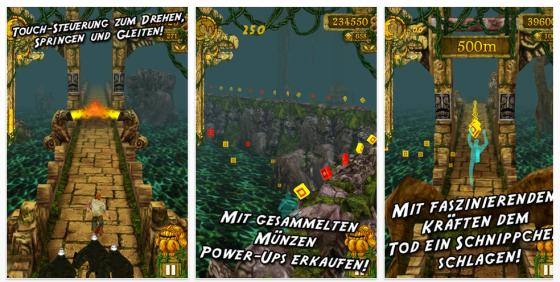 Temple Run Screenshot iPhone Spiel