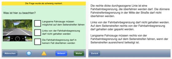 iFührerschein iPhone App zur Führerscheinvorbereitung - Screenshots