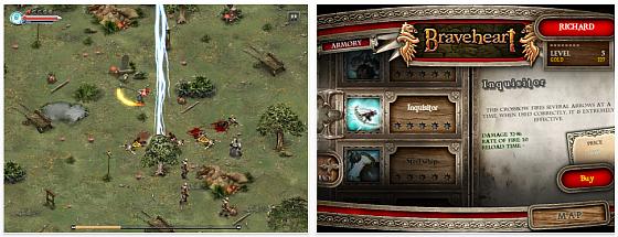 Braveheart Spiel für iPhone and iPad Screenshot