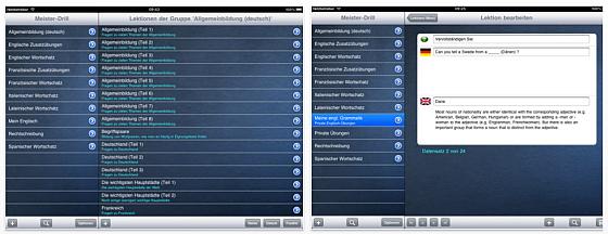 Drill-Meister Sprachlern-App
