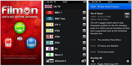 FilmOn TV Screenshot