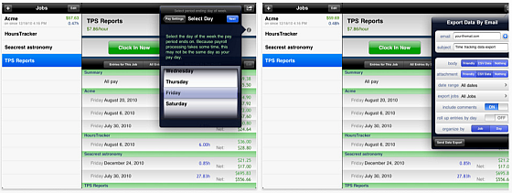 Hours Tracker HD Timesheet Screenshot