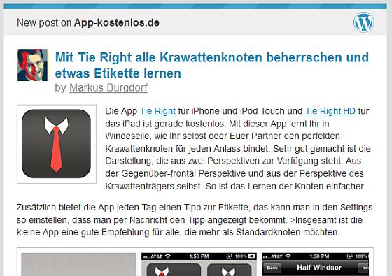 Beispielmail von app-kostenlos.de