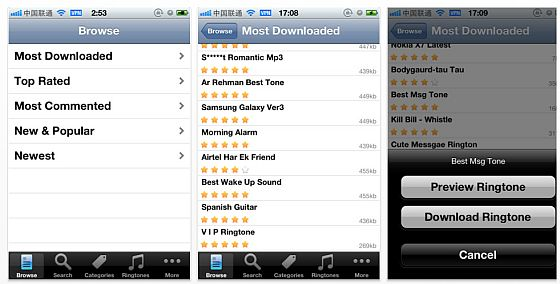Ringtones Unlimited Screenshots