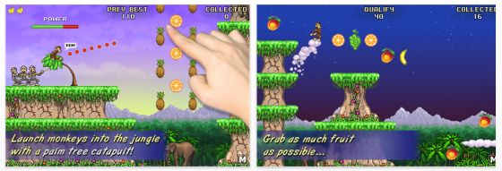 Monkey Flight für iPhone, iPod Touch und iPad - Screenshots