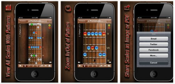 Star Scales Pro For Guitar iPhone App