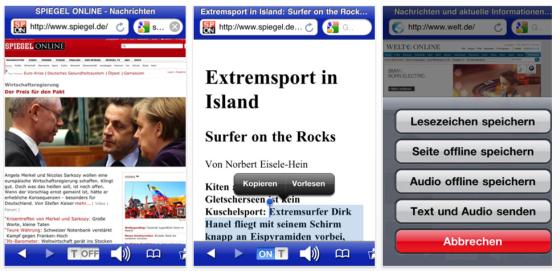 Voicereader Web Screenshot