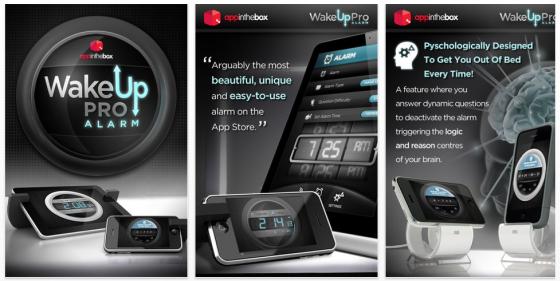 Wake Up Pro Alarm für iPhone, iPod Touch und iPad - Screenshots