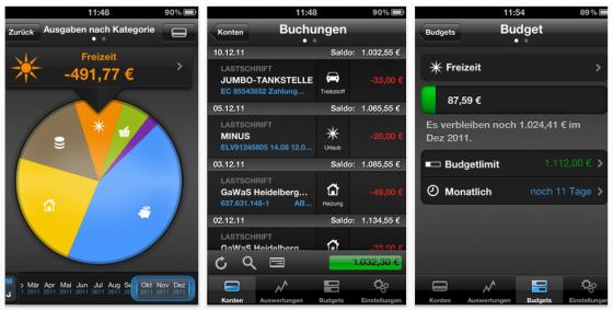 Finanzblick iPhone- und iPad-App von Buhl Data im Screenshot