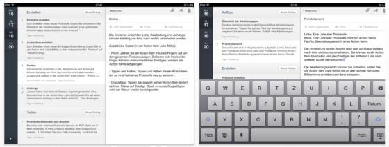 Minute Taker für das iPad