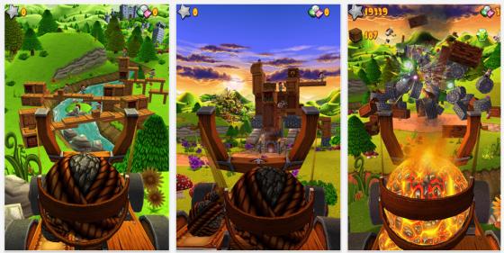 Catapult King Screenshots des Spiels für iPhone und iPad