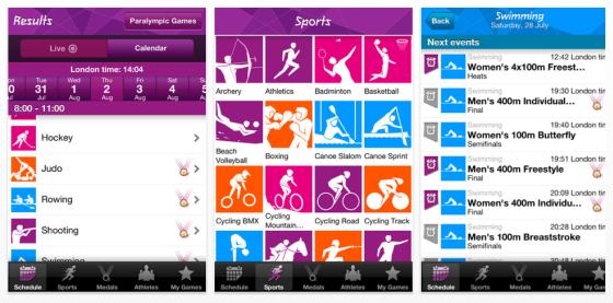 Alle Ergebnisse, Medaillen und viele Infos mehr bietet die Offizielle Ergebnis-App zu den Olympischen Spielen 2012 in London