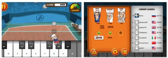 Piano Summer Games - Piano Lern-App für iPhone und iPad - Screenshots
