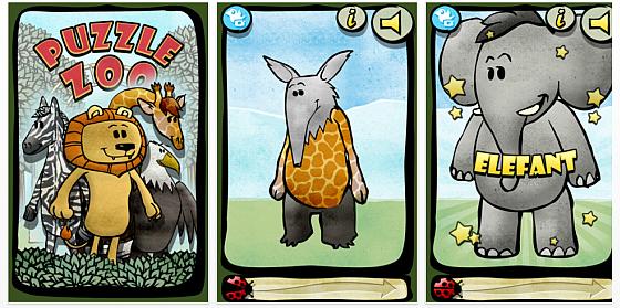 Zoo Puzzle + App für Kinder