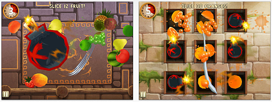 Screenshots Fruit Ninja Puss in Boots