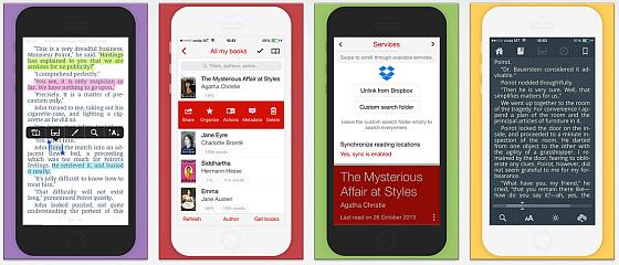 Marvin eBook-Reader iPhone und iPad Screens iPhone
