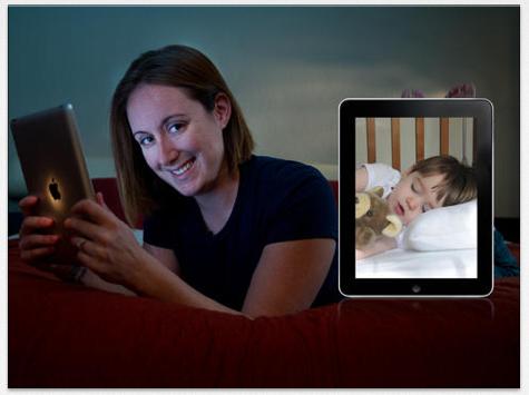 Eignet sich als Babyfon und auch für viele andere Gelegenheiten: splashtop CamCam überträgt das Bild Deiner Webcam auf iPhone, iPod Touch und iPad