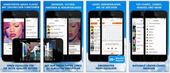 Mit SoundTube Pro lädst Du tausende Musikstücke legal und kostenlos auf Dein iPhone oder iPad.