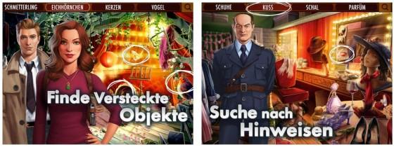 Spielprinzip von Criminal Case übernommen - aber eigene Inhalte mit geführten Falllösungen und zusätzlich zu Wimmelbildszenen allerlei Mini-Spielen.