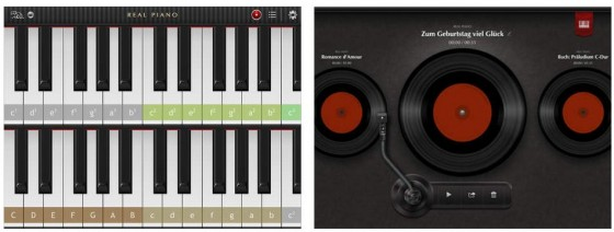 Mit Real Piano kann man einfache Melodien spielen und aufnehmen, an GarageBand von Apple kommt die App aber nicht ran.