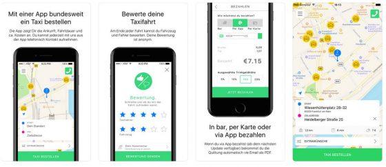 Bestellen, bezahlen, bewerten - alle Funktionen der App von Taxi Deutschland sind über die App direkt zu erreichen.